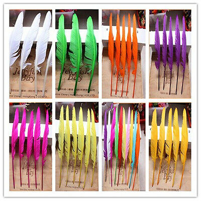 Wholesale 10-200PCS beautiful Natural goose feather 12-14 inches/30-35cm