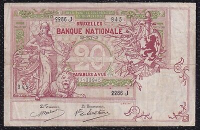 20 Francs from Belgium 29.10.13 G5