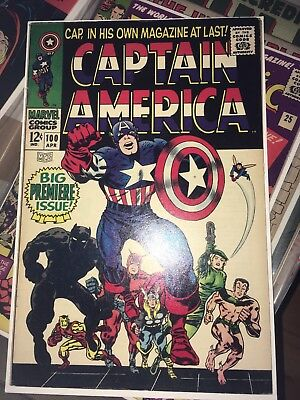 Captain America # 100 (First Silver Age Solo Book, Apr 1968) See Scans