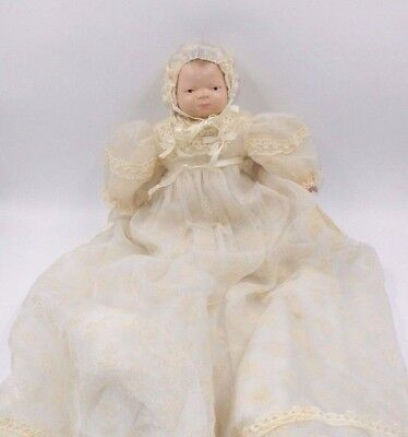 """Vintage Grace #5 Putnam Hand Painted Bisque 11"""" Doll Cloth Body Germany"""
