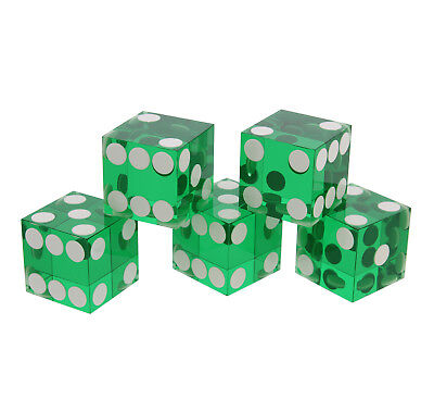 Get Out!™ Precision Casino Dice 6-Sided 19mm Playing Dice Translucent Green 5pk