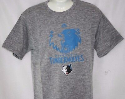 0216e527bd6 NEW Mens MAJESTIC NBA Minnesota Timberwolves Grey Big   Tall Tee T Shirt