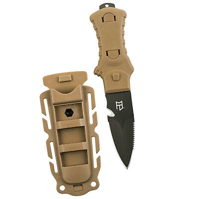 Gear Aid Tactical Full Tang Knife 420 Stainless Steel Nylon Sheath - Coyote