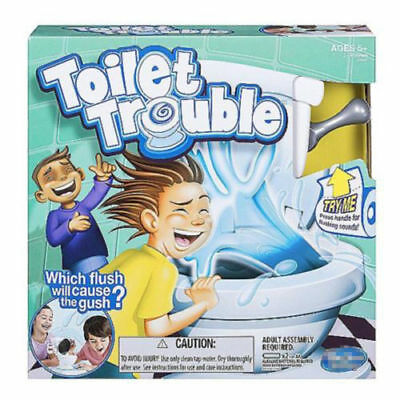 New Toilet Trouble Hilarious Game With Flush Sound Effects Kids Children Toys UK