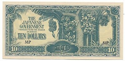 Rare Old Japanese Invasion WWII Japan War 10 Dollar Bill WW2 Collection Note G3