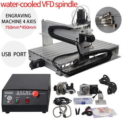 4Axis Engraver USB CNC 6040T Router Engraving Drilling Milling Machine 3D Cutter