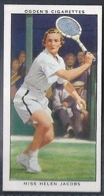 Ogdens-Champions Of 1936-#33- Tennis - Helen Jacobs