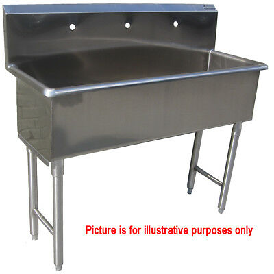 Custom Made Commercial Hand Sink Stainless Steel 3 Feet Wide Size