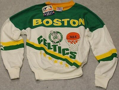 Vintage Youth Boston Celtics Crew Neck Sweatshirt