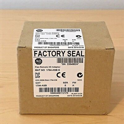 New Sealed Allen Bradley 1794-ASB /E FLEX Remote I/O RIO Adapter 8 I/O 24V