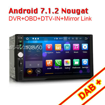 7 doppel din android 7 1 2 gps autoradio navi dab. Black Bedroom Furniture Sets. Home Design Ideas