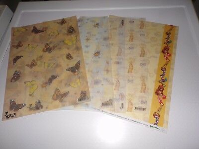 5 X Vellum Sheets In Different Styles   29X21 Cm New New (Vs128)