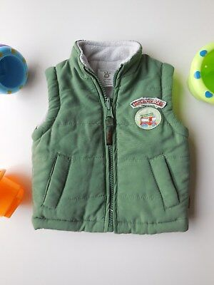 Pumpkin Patch Baby Boy Warm Puffer Vest Sleeveless Jacket Size 0000 Newborn