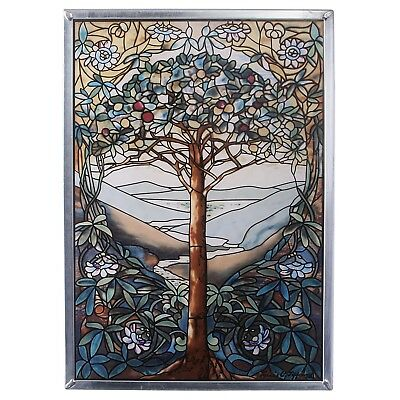 """Tiffany's Magnificent Leaded Glass Window """"Tree of Life"""""""