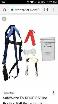 SafeWaze FS-ROOF-E Roofing Kit in a Bucket Roofing Harness and kit