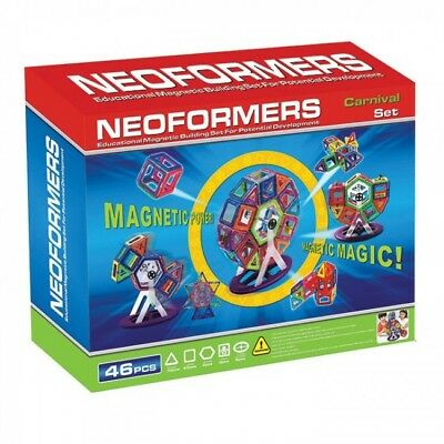 NEW Neoformers Carnival Set 46 Pieces - Kids Educational Magnetic Tiles Building