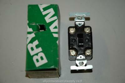 Bryant Electric 5432 Toggle Switch 30A 125/250V Double-Pole Brown - NOS