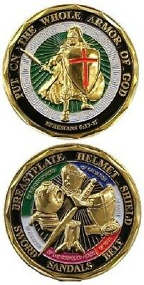 New Genuine Eagle Crest Put On The Whole Armor Of God Christian Challenge Coin