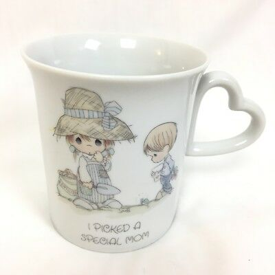 NWOB Vtg 80s Precious Moments Mug I Picked a Special Mom Mothers Day Son Gift