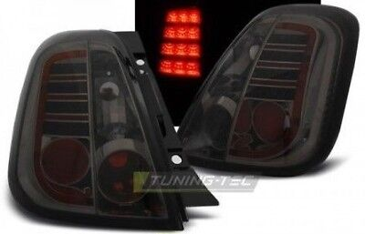 Coppia set Fari Fanali Posteriori Tuning FIAT 500 2007-2015 Fume' LED no error