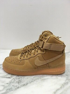 sports shoes 5d766 29bed Mens Nike Air Force 1 High 07 LV8 WB Flax Outdoor Green 882096 200 Wheat Gum