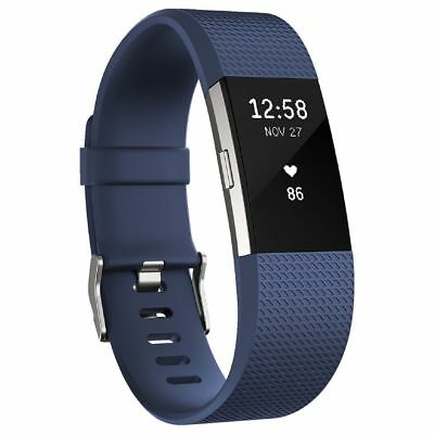 Fitbit Charge 2 Activity Tracker Blue Large