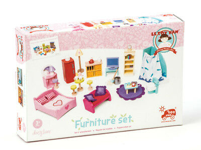 NEW Le Toy Van Deluxe Starter Set Toy Wooden Doll House Furniture 36pc