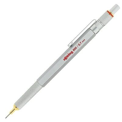 rOtring 800 Retractable Mechanical Pencil Silver Bar 0.7 mm Silver Barrel