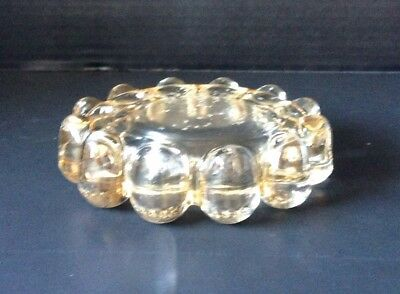 "Vintage Antique Retro Bubble Ball Heavy Thick Clear Glass 5"" Ashtray/Candy Dish"