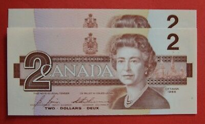 1986 $2 Bank of Canada EBX Replacement 3000 Apart!- 29.95 Ch UNC - SALE!