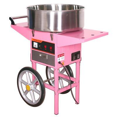 Commercial Cotton Candy Machine with Wheeled Cart Fairy Floss Maker