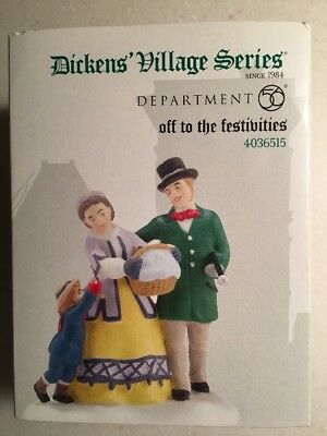 "Dept 56 Dickens' Village  ""Off to the Festivities"""