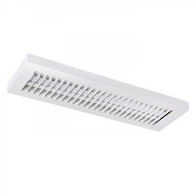 Louvre Luminaire T5 Surface Mounted Light 2x14w with EVG Ceiling Office White