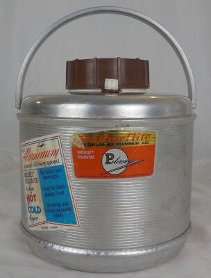 Vintage Poloron Featherflite Aluminum One Gallon Insulated Picnic Water Jug USA