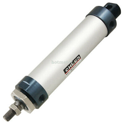 MAL40x100 40 mm Bore 100 mm Stroke Stainless Steel Air Cylinder Silver Tone Blue