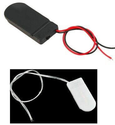 5X White/Black Case Box Battery Holder CR2032 Button Coin Cell 6V ON/OFF Switch