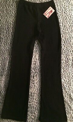 NWT Dance Rags Pants Large Adult Black MADE IN USA 100% ACRYLIC