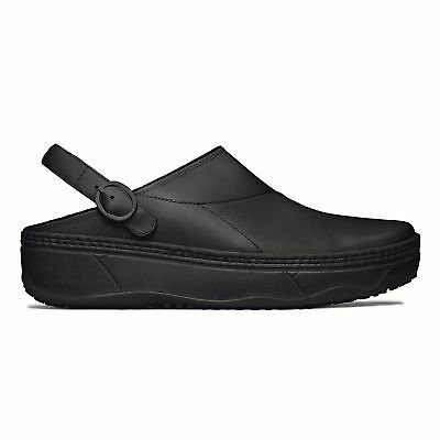 2aa0504bbd75a FitFlop™ GOGH™ Ladies Womens Soft Leather Comfortable Nurse Clog Shoes Black