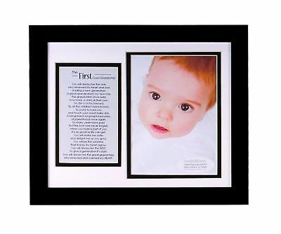 The Grandparent Gift Co. First Great-Grandchild Photo Frame NO TAX