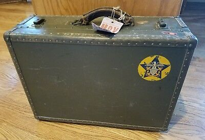 Vintage WWll US Navy Seapack by Hartmann Military Suitcase 1940's