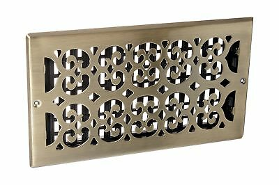 Decor Grates SP612W-A Scroll Steel Plated Antique Wall Register 6 x 12... NO TAX