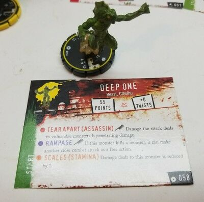 HorrorClix Base Set Deep One #058 - with card