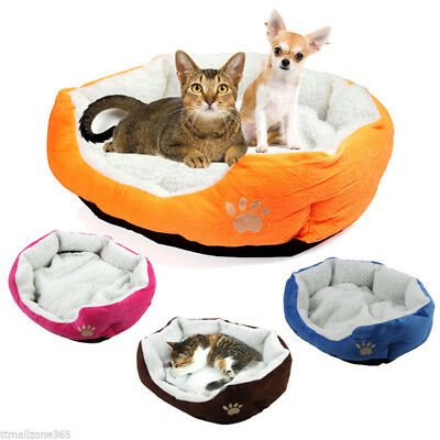 Cozy Warm Soft Fleece Pet Dog Puppy Cat Bed House Nest with Kennel Plush Mat