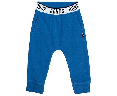 Bonds Baby Logo Signature Trackie Pant - Blue Grotto Marle