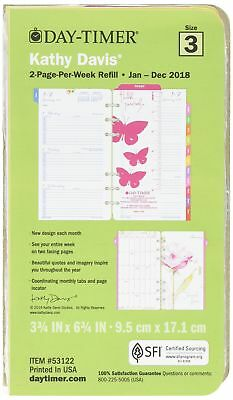 Day-Timer Two Page Per Week Planner Refill January 2018 - December 2018 3-3/4...