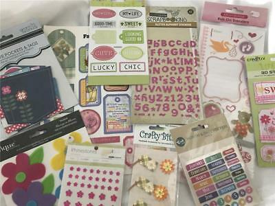 Girl Scrapbook Or Card Making Sticker & Embellishment Pack x 10    Pack 5 NEW !