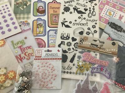Girl Scrapbook Or Card Making Sticker & Embellishment Pack x 10 NEW!  (pack 6)