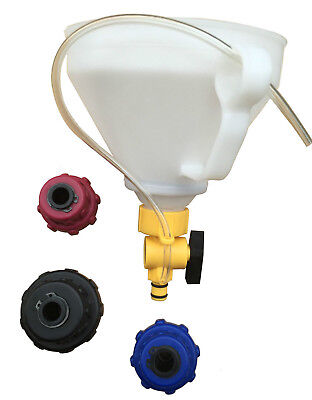 Spill Proof Radiator Coolant Filling Funnel Kit Spill Free Cooling System Funnel