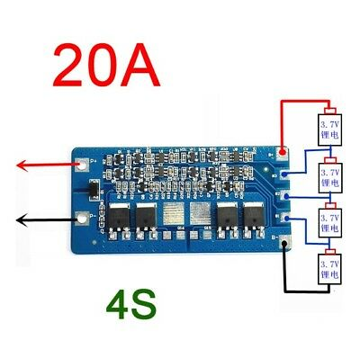 4S 20A Li-ion Lithium 18650 Battery BMS Protection PCB Board 14.8V 16.8V Cell D