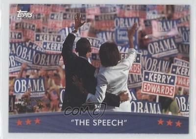 2008 Topps President Obama Collector Trading Cards #22 The Speech Card 0b5